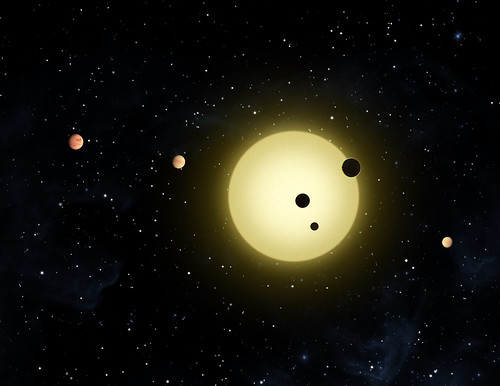 Kepler-11 is a small, cool star around which six planets orbit
