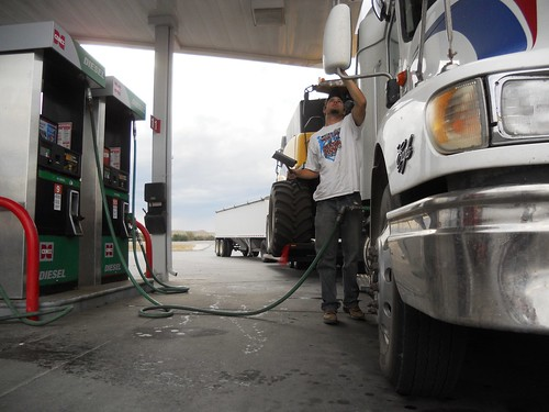 Fueling up in Wyo