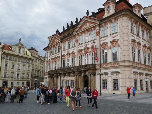 Kinsky Palace at Old Town Square of Prague, Czech Republic. July 13, 2012