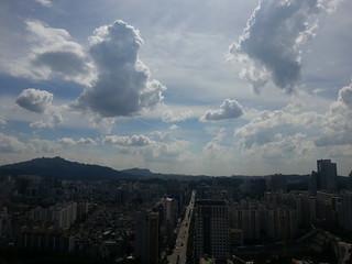 하늘이 이쁘다