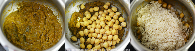 How to make chana biryani - Step3