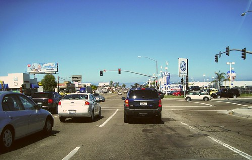traffic in a driving-mandatory district of San Diego (photo by FK Benfield)