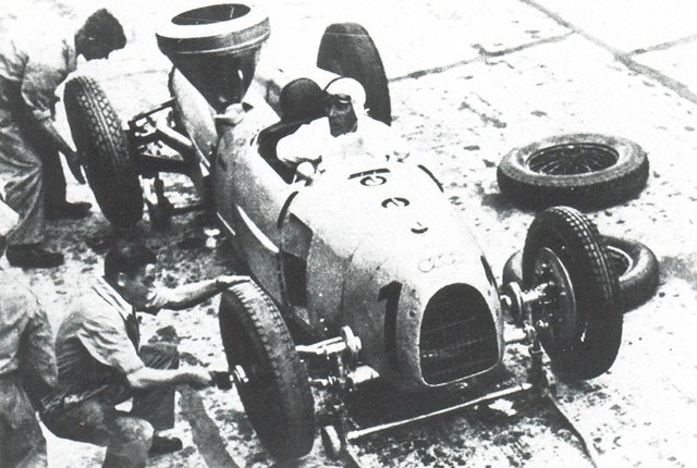 1934 Auto Union Typ A Hans Stuck at German Grand Prix 1