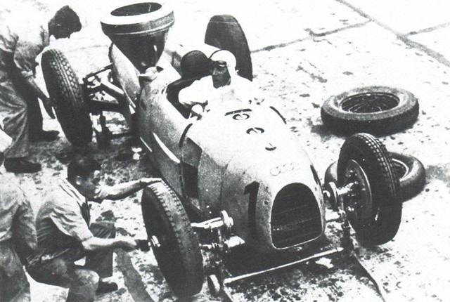 1934 Auto Union Typ A Hans Stuck at German Grand Prix 1
