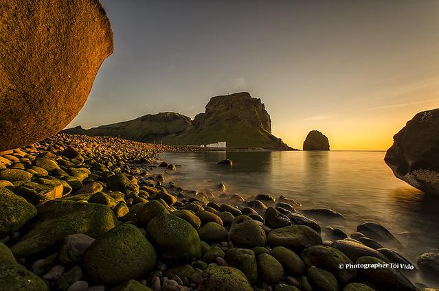 Evening sun in Vestmannaeyjar