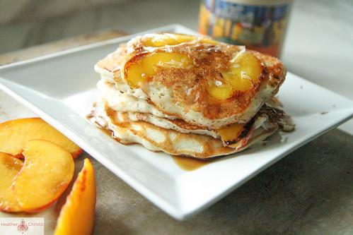 Peach Coconut Pancakes