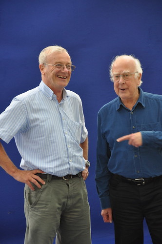Frank Close and Peter Higgs
