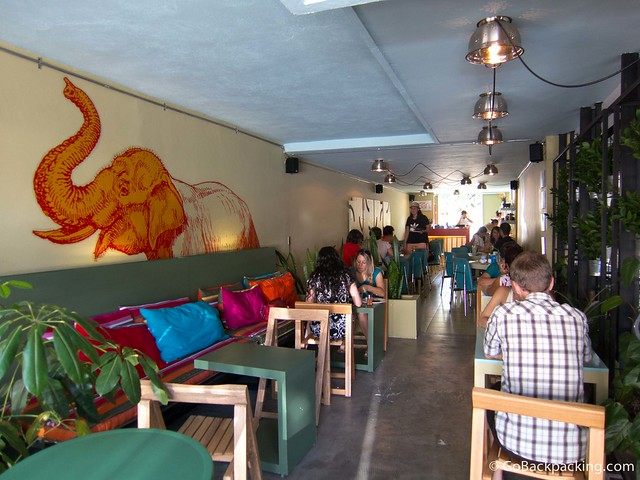 The dining area at Naan