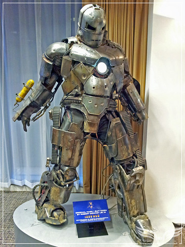 The Establishing Shot: ORIGINAL MARK 1 IRON MAN SUIT WORN BY TONY STARK (ROBERT DOWNEY JR.) IN IRON MAN - WALT DISNEY, LONDON by Craig Grobler