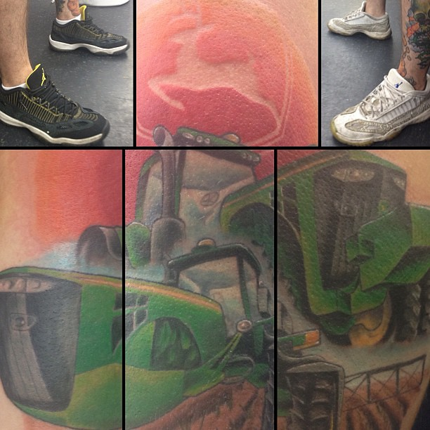 John Deere Tattoo Ideas : A john deere tattoo from today and the best shoes ever