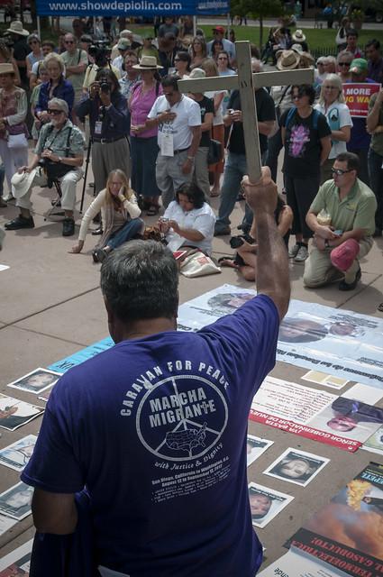 Nuevo Baño De Santa Fe:Acto Público en Santa Fe, Nuevo Mexico #Caravan4Peace #CaravanaUSA @
