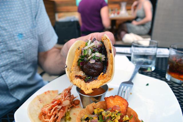 Mole Meatball Taco