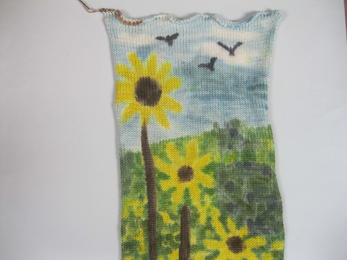 Sunflowers-Sock blank