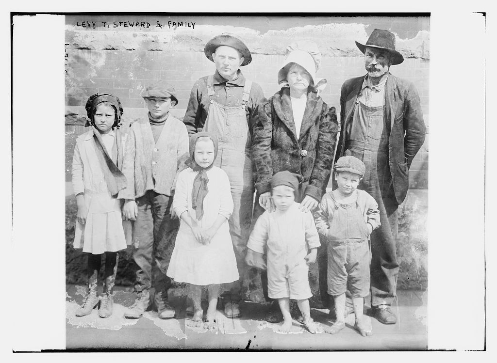 Levy T. Steward [i.e., Levi Thomas Stewart] and family  (LOC)