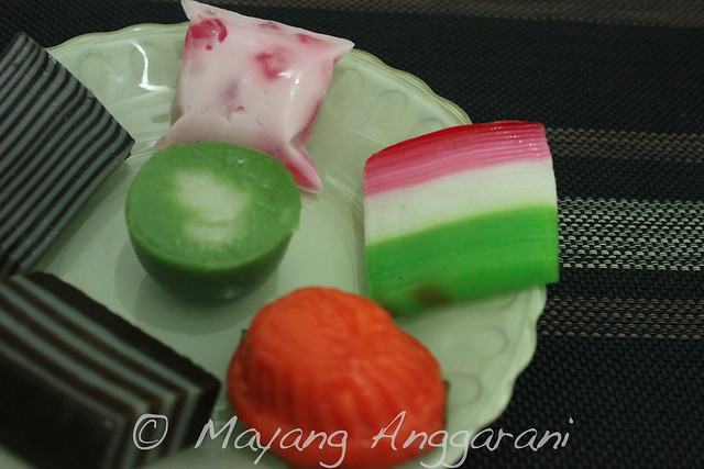Colorful cakes from sticky rice flour (its all steamed cakes with different fillings)