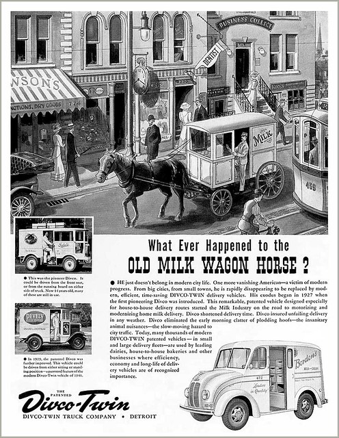 1941 Divco Milk Trucks ad (via ptatransitauthority.blogspot.com)
