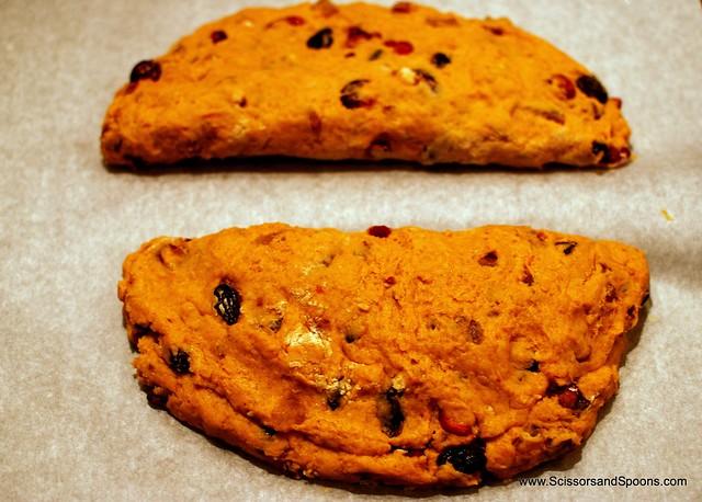 Pumpkin Bread Dough - Shaped