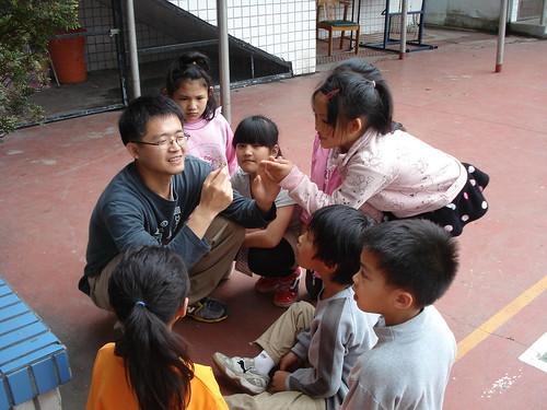 戶外教學,帶領孩子們認識昆蟲