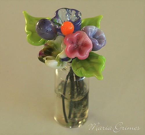 Lampwork Flower Vase