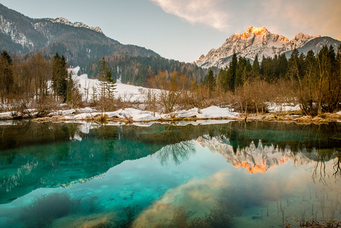 morning mountains nature water sunshine river slovenia slovenija source sava kranjskagora dolinka zelensi