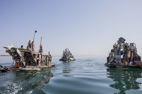 Swoon (American, born 1978), The Swimming Cities of Serenissima, Adriatic Sea, 2009. © Tod Seelie