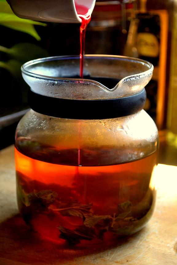 Rose Mint Green Iced Tea