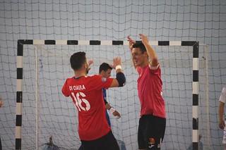 Paolo Rotondo esultanza contro il Real Cefalù - foto Michele Rubino