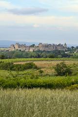 Carcassonne. Regardez le château, Morte couille !  Il enfle comme un carton. Il porte un coiffu !