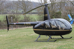 G-DCSI - 2007 build Robinson R44 Raven II, at the 2012 Cheltenham Festival