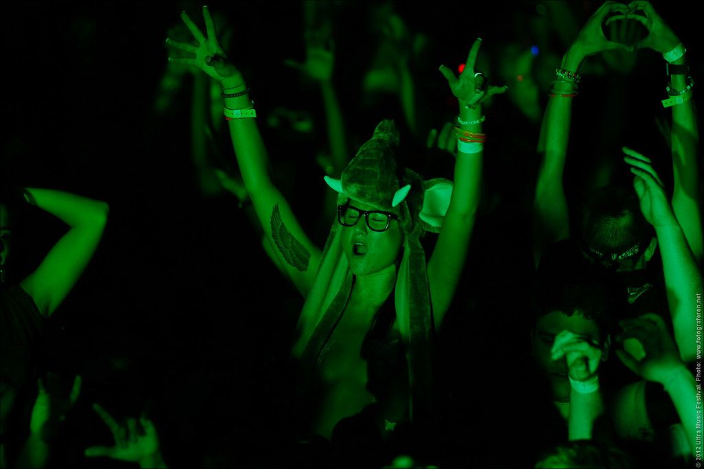 20. Partygirl in green @ Group Therapy Miami with Above & Beyond