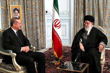 Turkish Prime Minister Recep Tayyip Erdogan meets with Iranian lead cleric Ayatollah Khamenei to discuss the opposition by the Islamic Republic to imperialist intervention in Syria. The western states are behind destabilization efforts in Syria and Iran. by Pan-African News Wire File Photos
