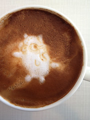 Today's latte, Gopher again and again.