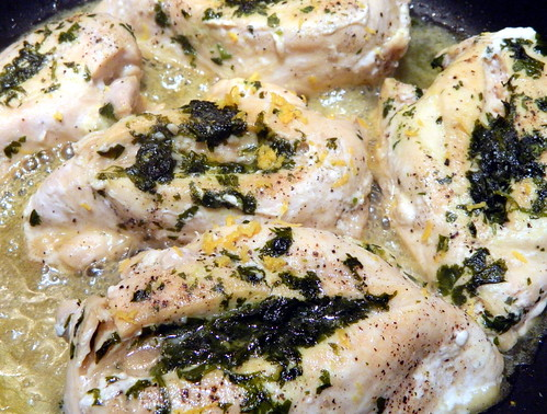 Cilantro and Garlic Stuffed Chicken Breasts