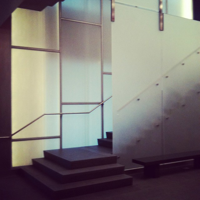 Logan Center for the Arts stair 01