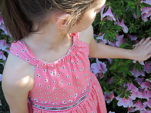 pink seeds Easter Dress