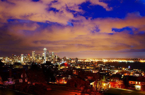 Seattle City Skyline at Dusk