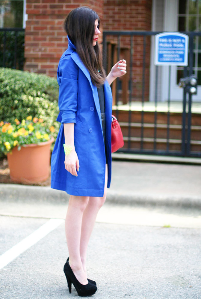 Victoria's Secret Trench Cat, Asos heels, Fashion, Leather skirt