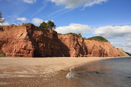 The red cliffs of Sidmouth