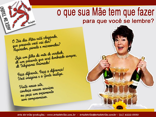 Arte daTribo - Telegrama Animado no DIA DAS MÃES - 042012-5 by Arte da Tribo Produções