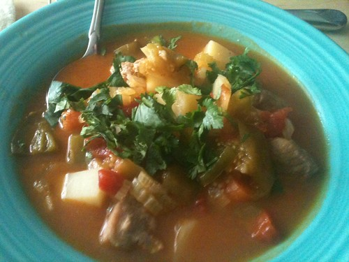 Tomatillo stew