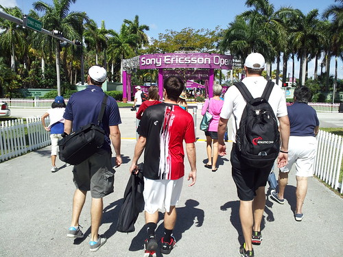 Walking into the Sony Ericsson Open