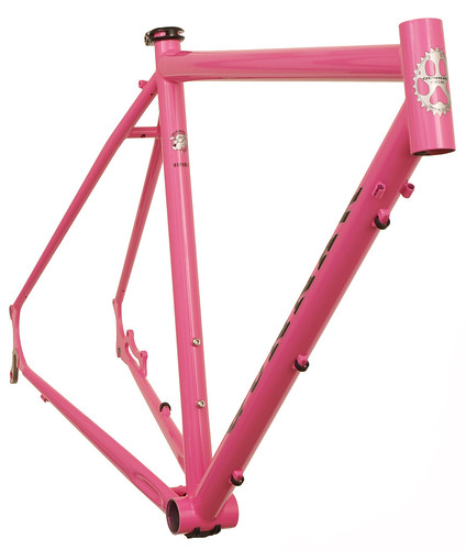 <p>Gunnar Hyper-X Disc 'Cross frame in Pink Panther.  Includes chainstay disc mounts.  63092</p>