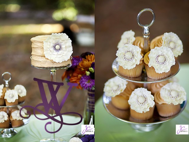 Janice Cui Wedding Cake Cupcakes Ruffled Flowers