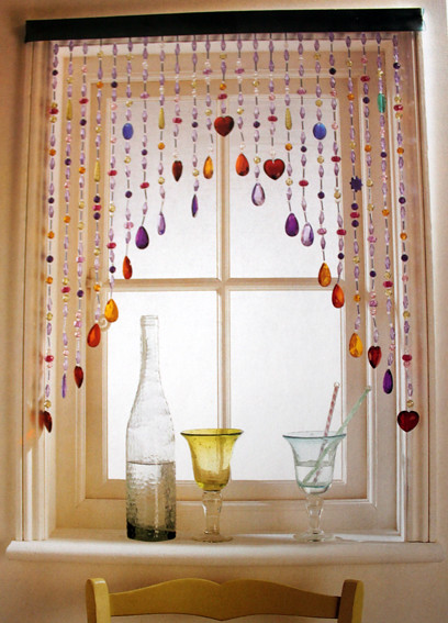 This Window Curtain Is Fantastic... It Reminds Me Of Necklaces I Used To  Own When I Was A Little Girl.