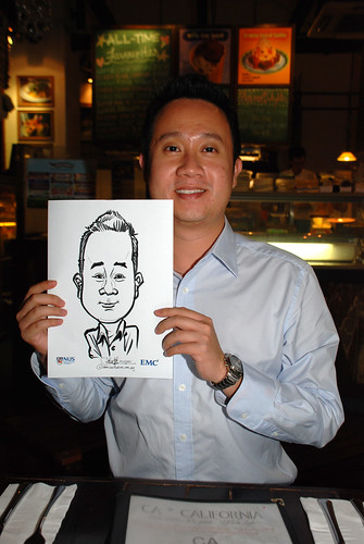 caricature live sketching for emc NUS - 7
