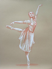 Drawing - Ballet Dancer