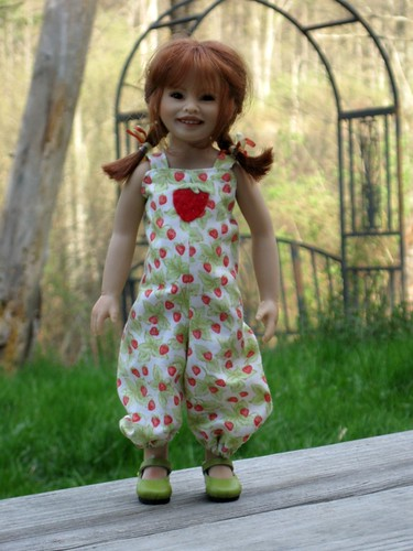 Amelie in Spring Overalls by elizabeth's*whimsies