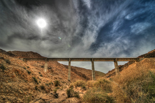 bridge sky sun israel desert wide rail railway wideangle tokina 11mm hdr 1116 hadarom ramatnegevregionalcouncil