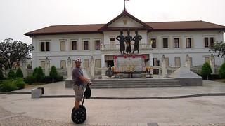 Image of  Three Kings Monument. monument thailand three kings segway chiangmai 2012 gibbon
