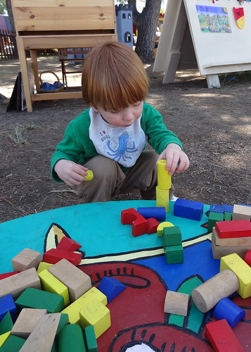 Archie Building with Blocks